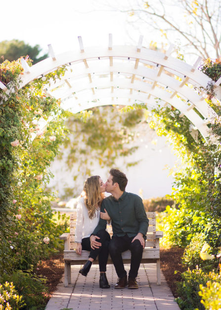 Couple kissing in Gilbert, AZ photographed by Jubilee Family Photography.
