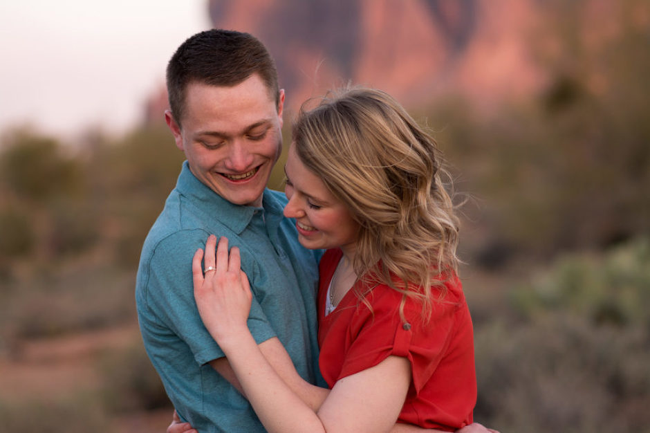 Couple photographed at the Superstition Mountain Museum by Jubilee Family Photography.