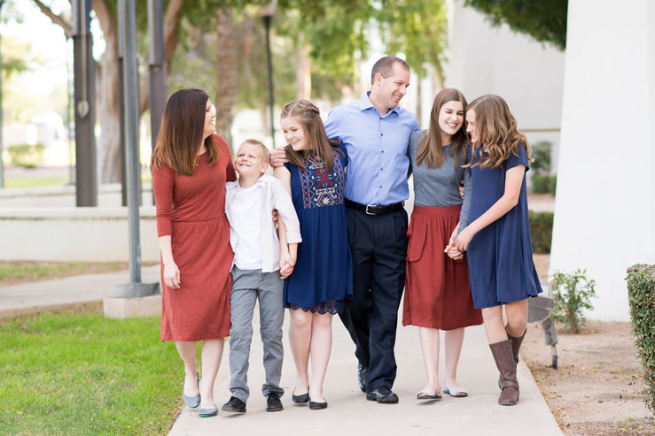 Family photographed at the Gilbert Historical Museum by Jubilee Family Photography in Gilbert, AZ.