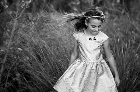 Black white young girl photographed by Jubilee Family Photography in Gilbert, AZ.