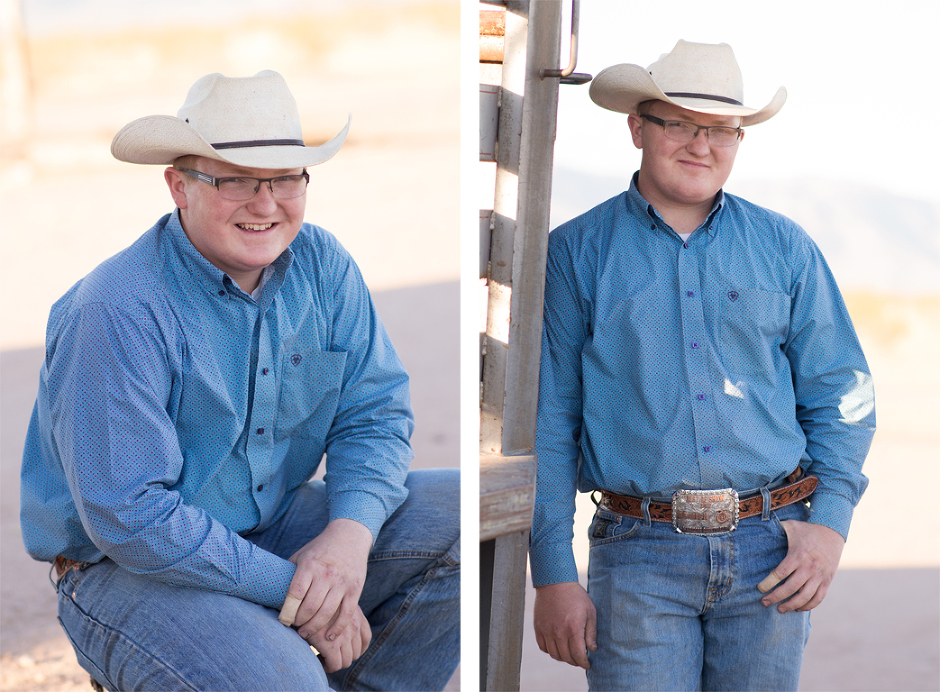 Cowboy senior portraits by Jubilee Family Photography