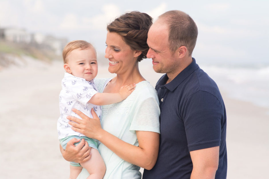 Family photographed by Jubilee Family Photography in Topsail Island, NC