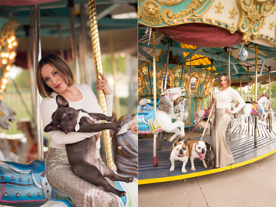 Woman and dogs photographed in Gilbert, AZ by Melissa Maxwell of Jubilee Family Photography.